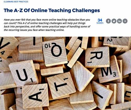 The A-Z of Online Teaching Challenges